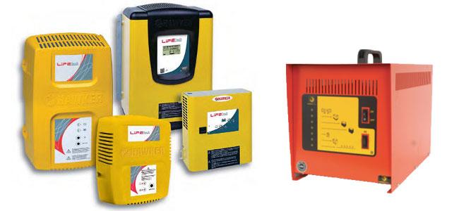 Зарядные устройства для погрузчиков и штабелеров.
